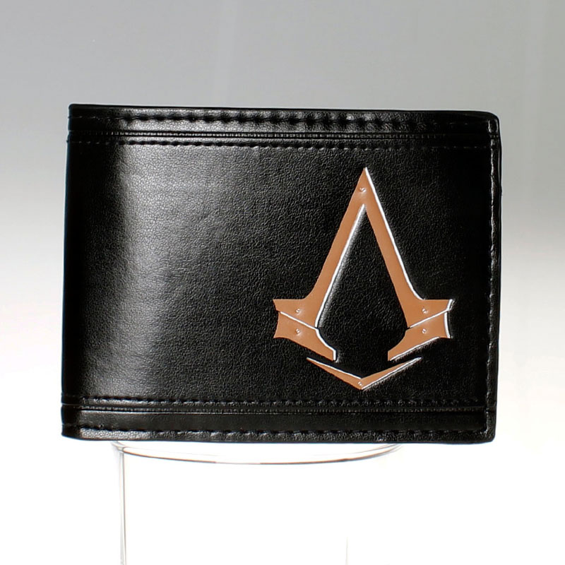 Assassins Creed  black  Bi-Fold Wallet DFT-1523 star trek command metal logo bi a fold wallet dft 1404