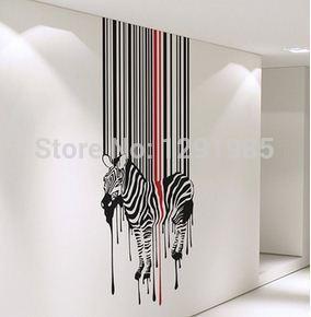Vollfarbe Wandvinylaufkleber Abziehbild Dekor Kunst Schlafzimmer Design Wand  Pferd Tropfende Zebra Poster