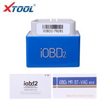 XTOOL iOBD2 MFi BT  Diagnostic/Reads trouble code For VW AUDI/SKODA/SEAT Support Android & IOS By Bluetooth Free Update Online