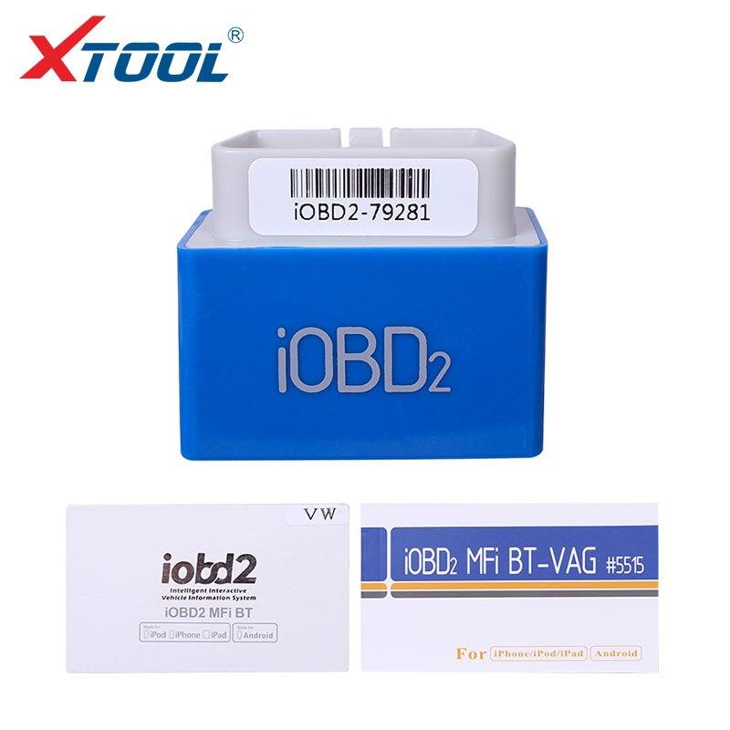 Цена за XTOOL iOBD2 MFi BT Диагностический/Читает кодов неисправностей Для VW AUDI/SKODA/SEAT Поддержка Android и IOS по Bluetooth Бесплатного Обновления Онлайн