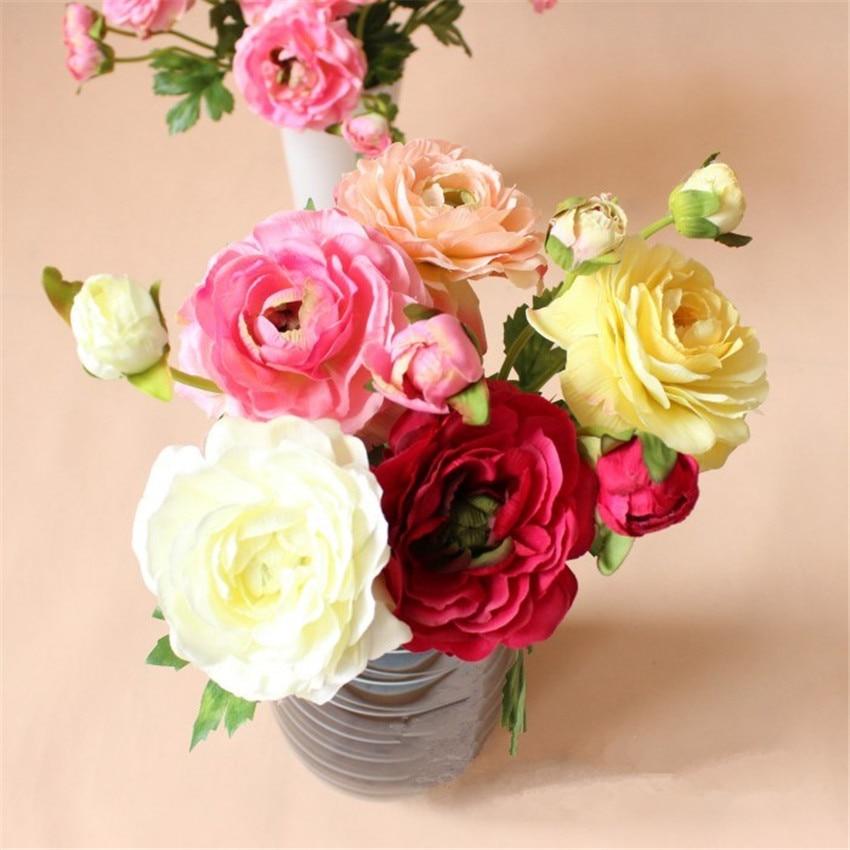 (5 buc / lot) moda flori de mătase artificiale trandafir bujor - Produse pentru sărbători și petreceri