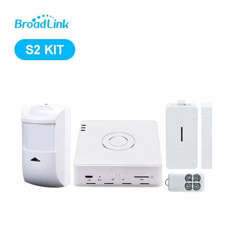 2018 Broadlink S2-HUB Sécurité Système D'alarme Kit Détecteur Motion Sensor Télécommande Pour Smart Home Automation Anti-thef