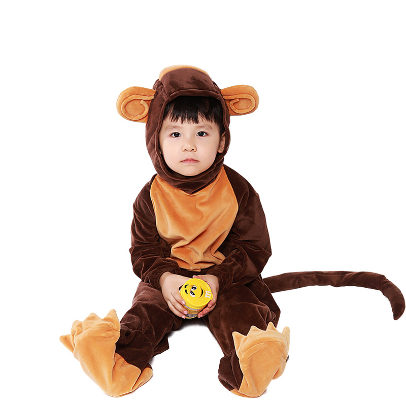 new arrival children naughty monkey cos costume halloween cosplay kids disfraces masquerade conjoined clothes 5040h177449 - Naughty Halloween
