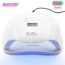54W SUNX UV Nail Lamp LED Lamp For Manicure Nail Dryer For All Gels Polish With Infrared Sensing 10/30/60s LCD display Light