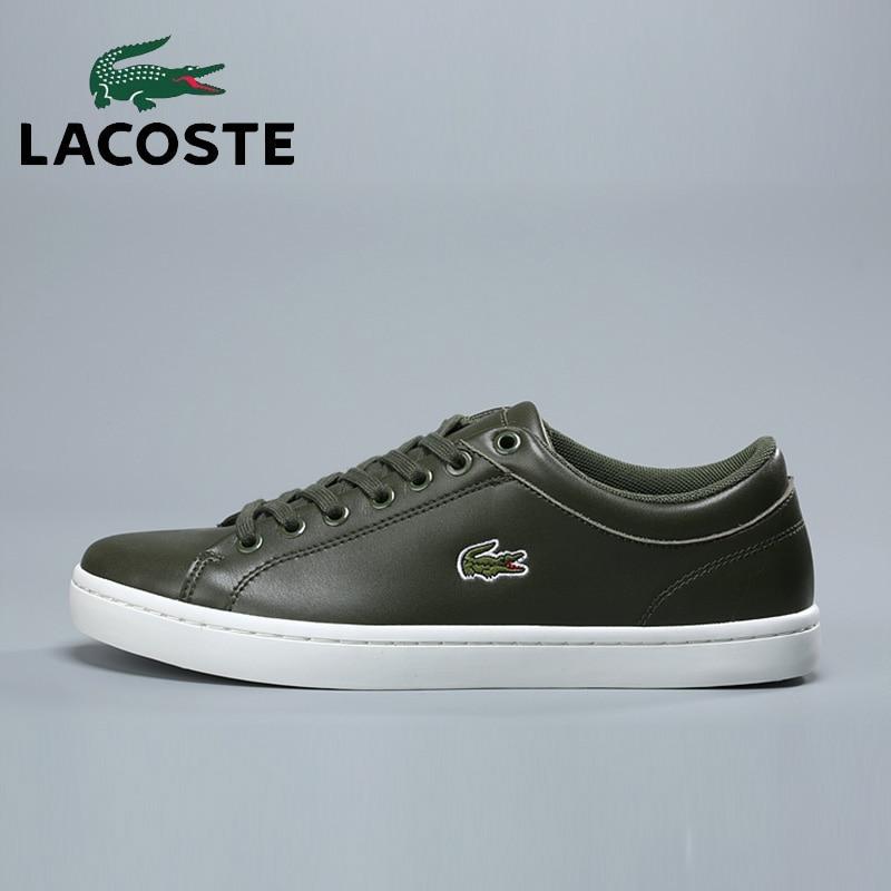 Здесь продается  Lacoste New Men Outdoor Soccer Athletic Sneakers Classic Leather Tennis Sport Walking Shoes Men