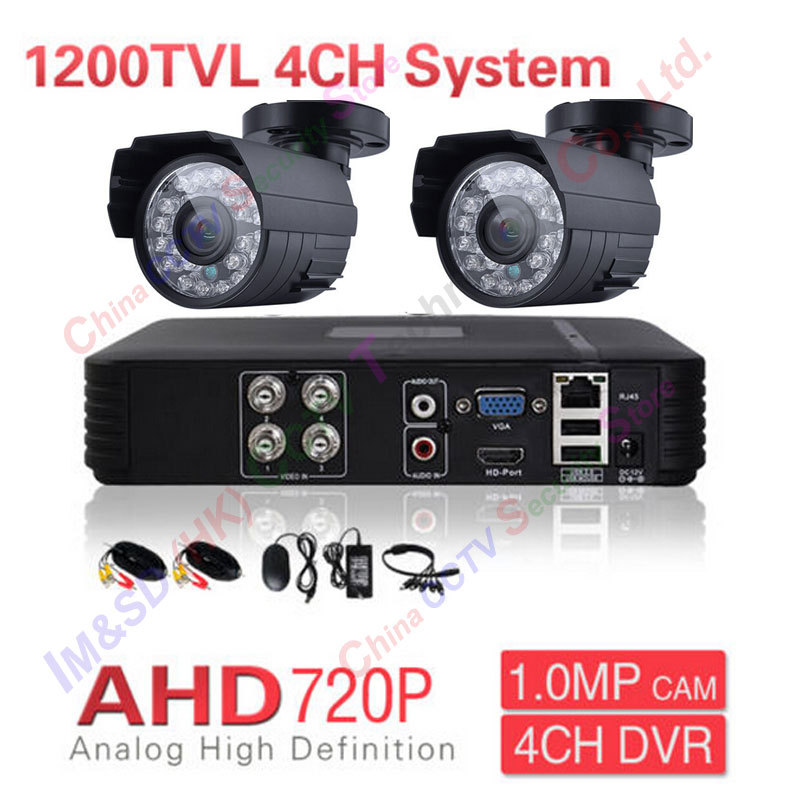 2CH AHD CCTV System 4 Channel AHD DVR Surveillance Security Systems 1200TVL Warterproof Night Vision IR-CUT IR Camera DIY Kit odetina 2017 brand fashion women casual flat spring shoes pointed toe ballet flats bowknot slip on loafers ballerinas plus size