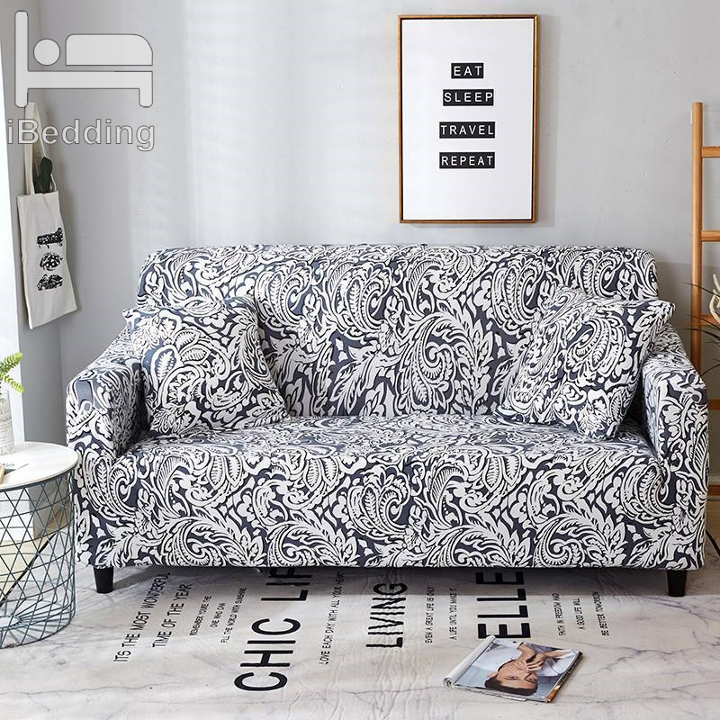 US $15.78 21% OFF|Black Phoenix Elastic Sofa Protector Cover for Living  Room Sofa Slipcovers Sectional L Shape Sofacover 1/2/3/4 Seater-in Sofa  Cover ...