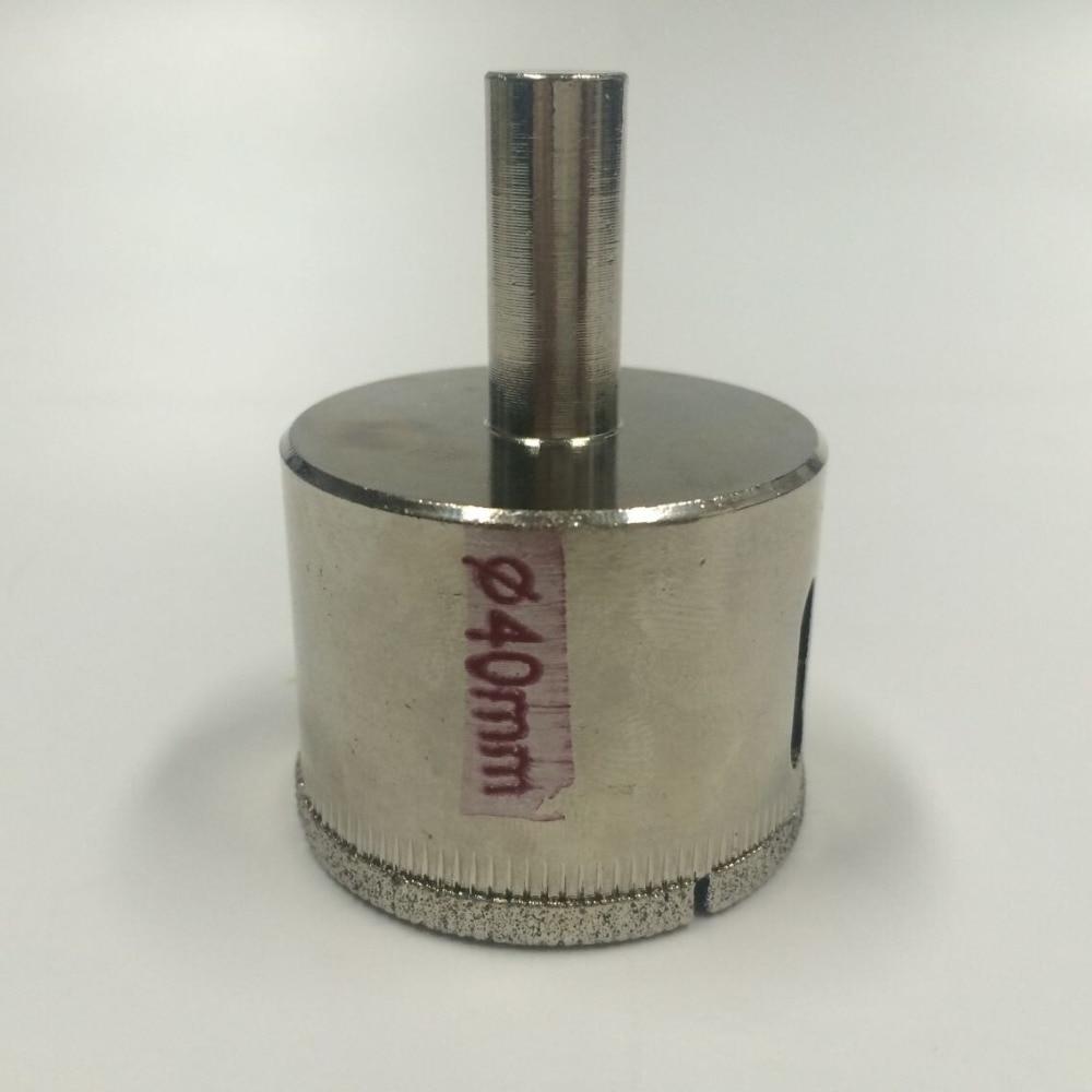 40mm glass hole saw installation diamond coated drill bit wood plastic cutting  rasp dremel  цены