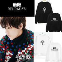 Kpop exo Luhan neue album Reloaded Hoodie oberes kleid herbst frauen helfen sollte k-pop LU HAN Baekhyun outwear mit kapuze sweatshirts