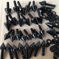 Aftermarket free shipping motorcycle parts Motorcycle Spike Fairing Bolts Kit For Suzuki GSXR 750 2001 2002 GSX R 1000 BLACK