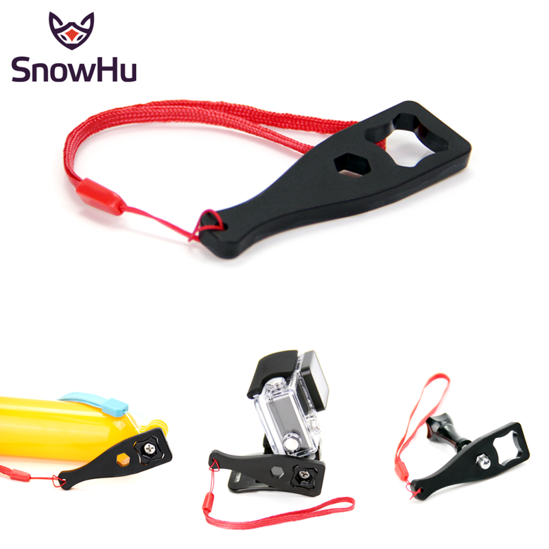 SnowHu For Gopro Accessories Wrench Spanner Tighten Thumb Knob For Go Pro Hero 8 7 6 5 4 3+ For SJCAM For Xiaomi Yi 4K GP123A