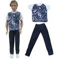 Бесплатная доставка один наборы костюм Повседневная Одежда рубашка Одежда и брюки для барби мальчик firend для куклы барби кеном