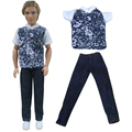 free shipping one sets suit Outfit Casual Wear shirt Clothes and pants for barbie boy firend for barbie doll ken