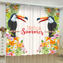 Largirostrornis curtains for window Rainforest plant blinds finished drapes blackout parlour room curtain