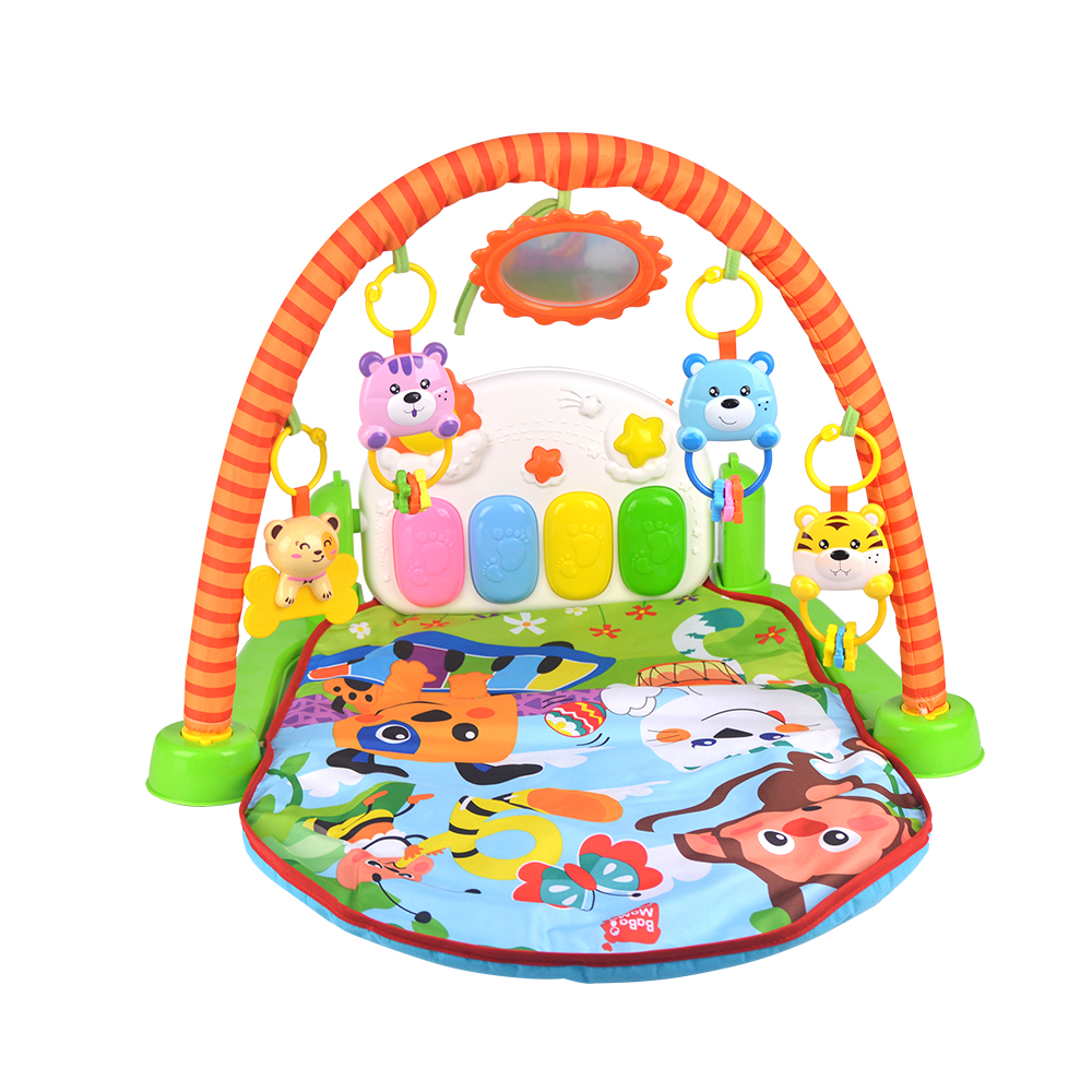 ФОТО LIGHTAILING Brand Play Mat Twist and Fold Activity Play Gym Playmats Musical Soft Gymini Playmat with Many Toys 53*43*9cm