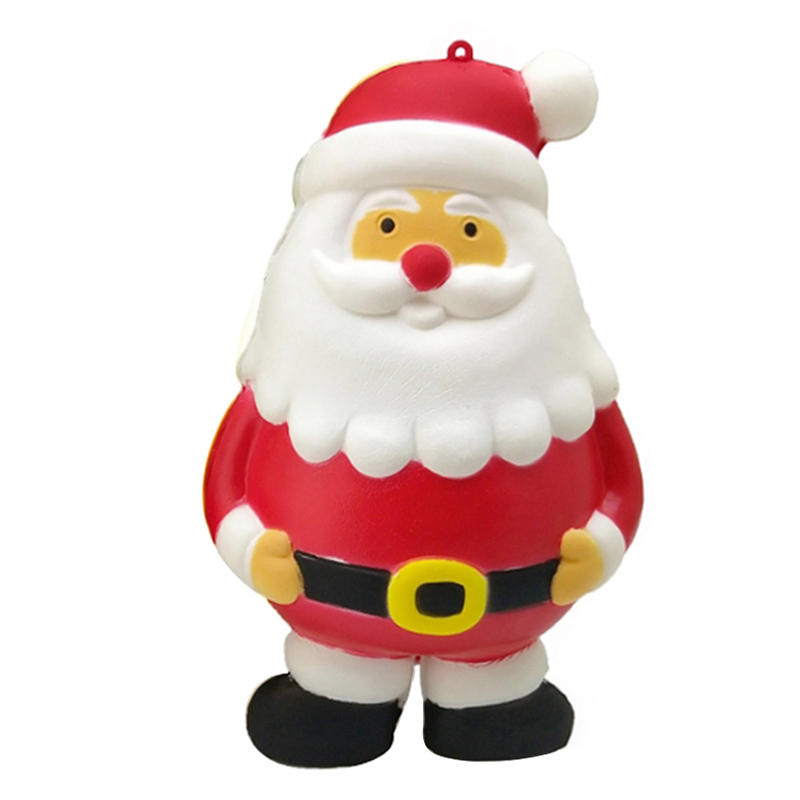 2020 New Kawaii Santa Claus Squishy Slow Rising Soft Scented Squeeze Toy Phone Straps Stress Relief Funny For Kids Xmas Gift