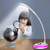 JIAWEN Unlimited Dimming Desk Lamp Multi color Night Light for Kids Bedroom Gadgets Eye Protection Touch Reading Light