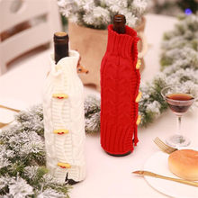 218e11ae4414 1PC Creative Red White Wine Bottle Bag Decoration Stockings   Gift Holders  Xmas Party Decoration Gifts Home