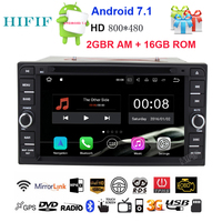 HIFIF 3G Wifi Android 7.12 DIN Car DVD GPS for Toyota Terios Old Corolla Camry Prado RAV4 Universal radio Capacitive 800*480 RDS
