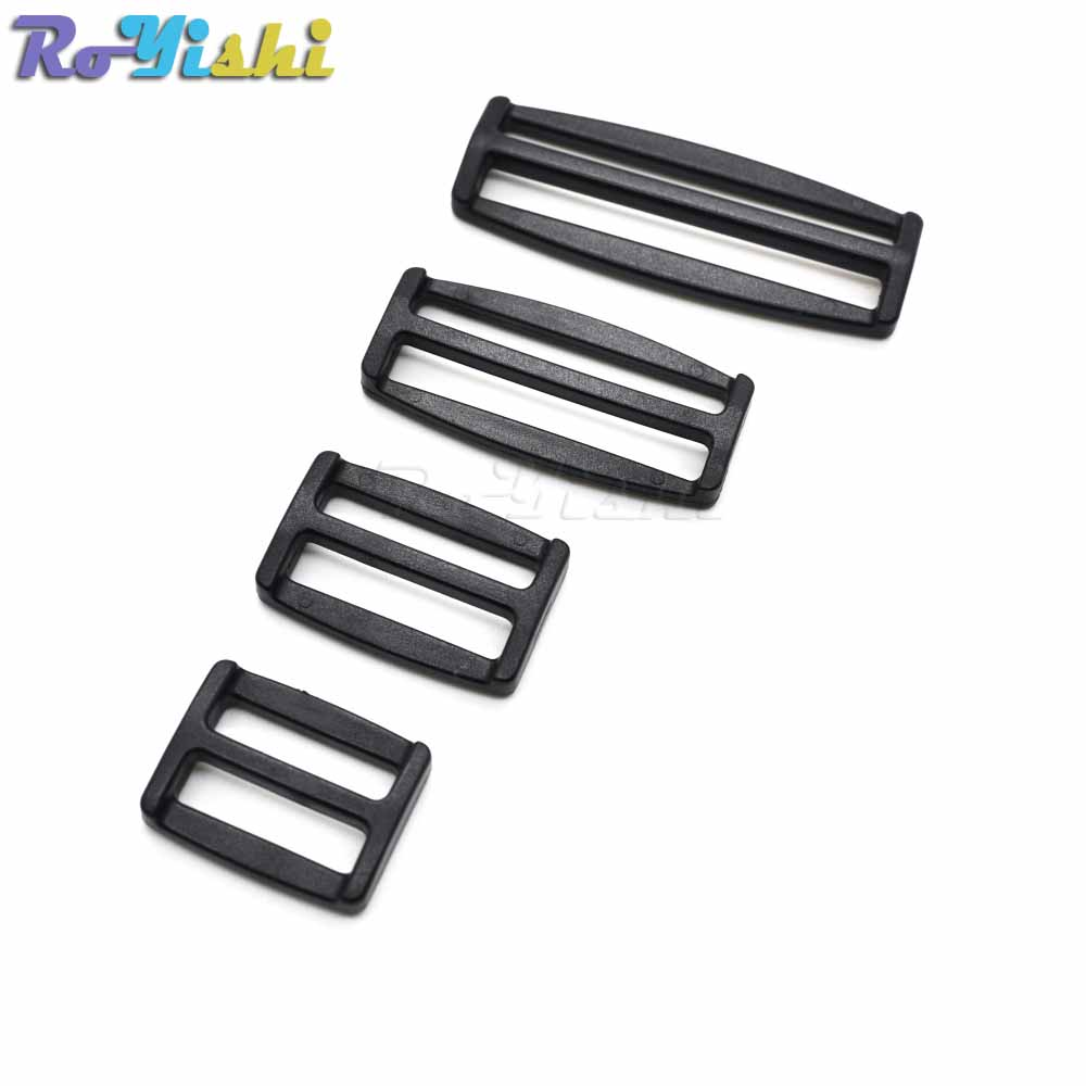 10pcs/pack Plastic Curve Tri-glide Slider Adjustable Buckle For Bags Webbing Black To Win A High Admiration And Is Widely Trusted At Home And Abroad. Buckles & Hooks