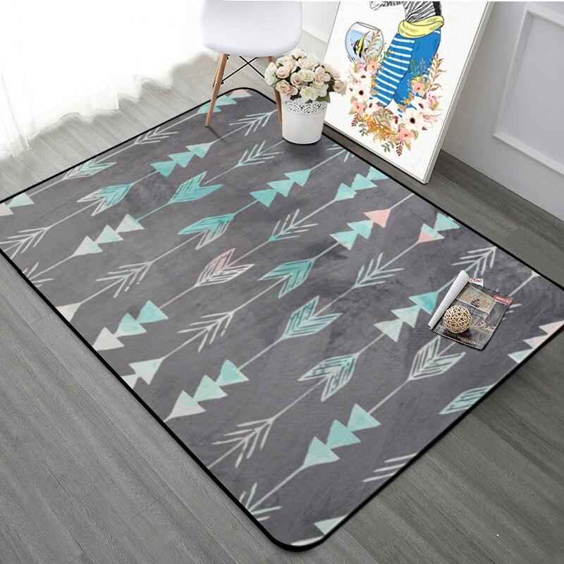 Nordique géométrique flèche salon tapis enfants chambre antidérapant tapis Rectangle étoiles chambre canapé tapis café bureau tapis - 4