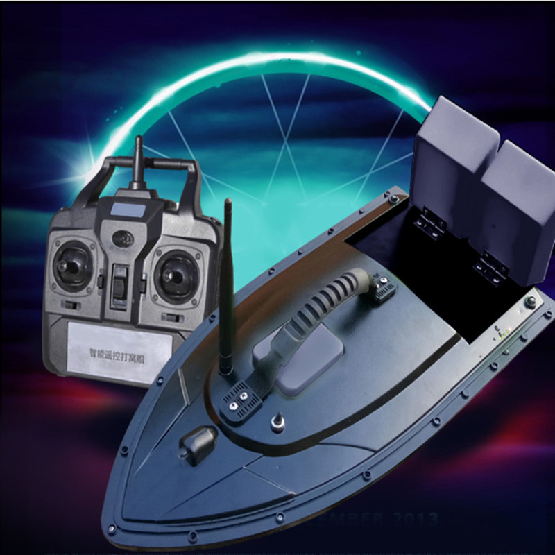 Remote Control Fast Electric RC Fishing Boat Fish Finder 2kg Bait boat Loading 2pcs Tanks with