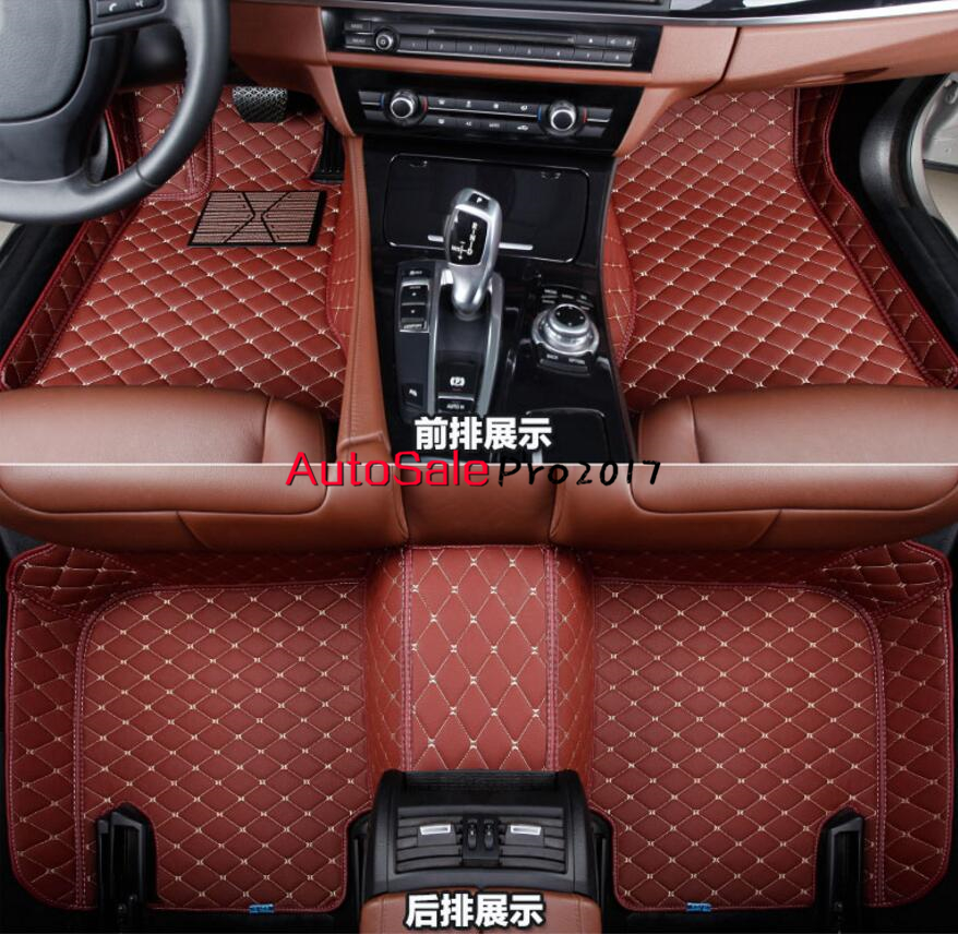 Car Floor Mats Custom Fit For Volkswagen Teramont 2017 5 Seats Car Styling Auto Floor Mat Car Accessory Carpet Cover interior leather custom car styling auto floor mats