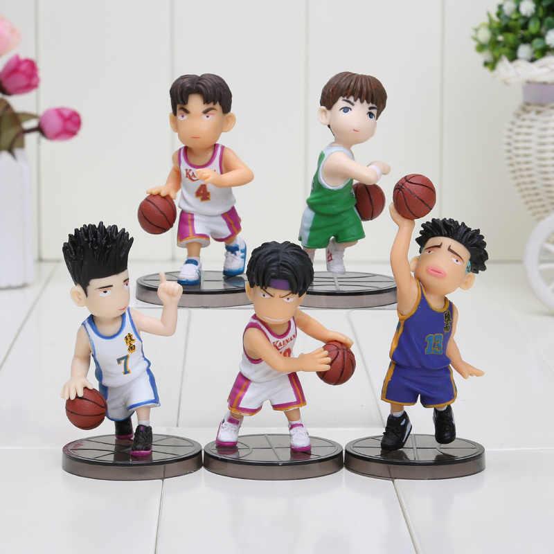 5 pçs/set Anime japonês afundanço Hanamichi Sakuragi figura PVC boneca modelo os presentes dos meninos