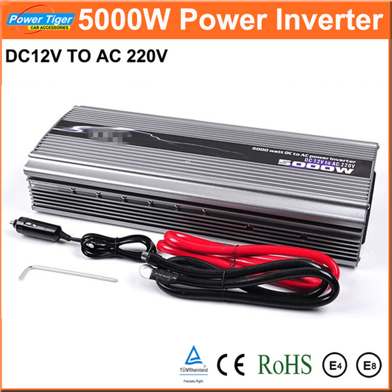 цена на New 1pcs Car Power Inverter DC12V to AC220V Inverter 5000W Modified Sine Wave Car Power Converter Inverter Peak Power 10000W