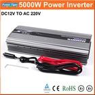 New 1pcs Car Power Inverter DC12V to AC220V Inverter 5000W Modified Sine Wave Car Power Converter Inverter Peak Power 10000W