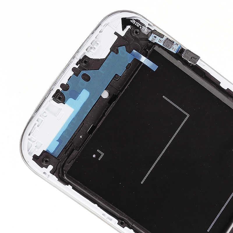 لسامسونج غالاكسي S4 i9500 i9505 شاشة إل سي دي باللمس شاشة قطع غيار محول رقمي مع الإطار i9500 عرض لسامسونج S4 LCD