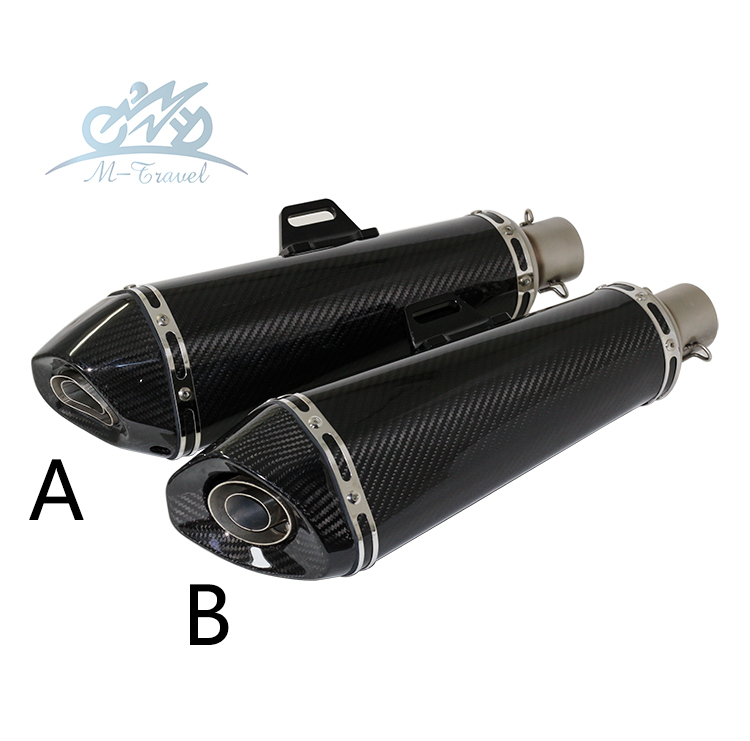 Universal 36-51mm Motorcycle exhaust Modified Scooter carbon fiber muffler Exhaust Muffle Fit for most motorcycle z1000 mt07 cbr universal motorcycle slip on mivv exhaust for most exhaust mt07 09 for 10rzx6r10r z800 ninjia er6n z1000