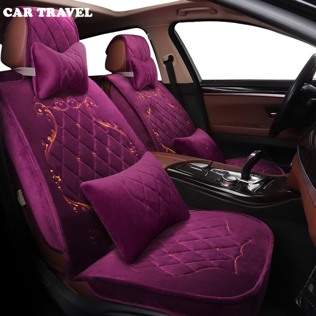 Car Seat Covers Faux Fur Car Interior Accessories Cushion Styling