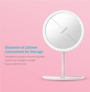 Image 5 - Зеркало для макияжа с регулируемой яркостью, светодиодное HD зеркало для макияжа Mijia, косметическое зеркало для макияжа