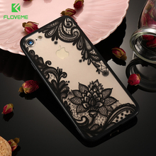 FLOVEME Vintage Case For iPhone X 7 6 Luxury Ultra Thin Silicone TPU Edge PC Back Cover For iPhone 7 8 6S Plus 5S SE Phone Case