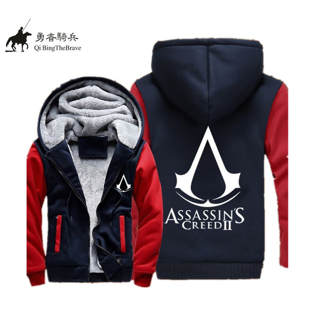 2017 Autumn Anime Assasins Creed 3D printed hoodie Assassins Creed Cosplay Coat Men White Cosplay Sweatshirt Costume 070805