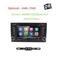 Car DVD Player for Audi A4 S4 B6 B7 RS4 8E 8H 8F B9 2002 2007 Seat Exeo 2 Din AutoRadio Multimedia Steering wheel BT 3G Cam Map