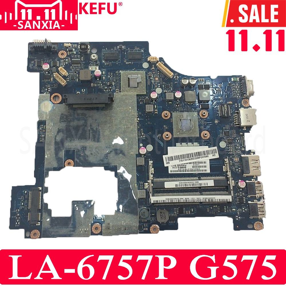 KEFU PAWGD LA-6757P Laptop motherboard for Lenovo G575 Test original mainboard DDR3 with Video card все цены
