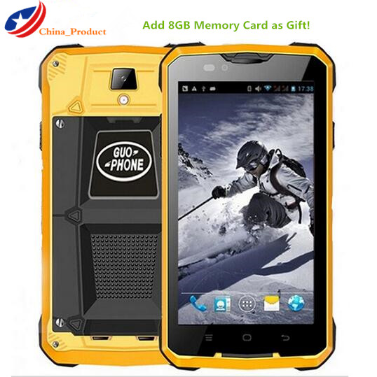24 Hours Shipping Guophone V12 4000mAH waterproof shockproof 5 0 inch Android 4 4 GPS