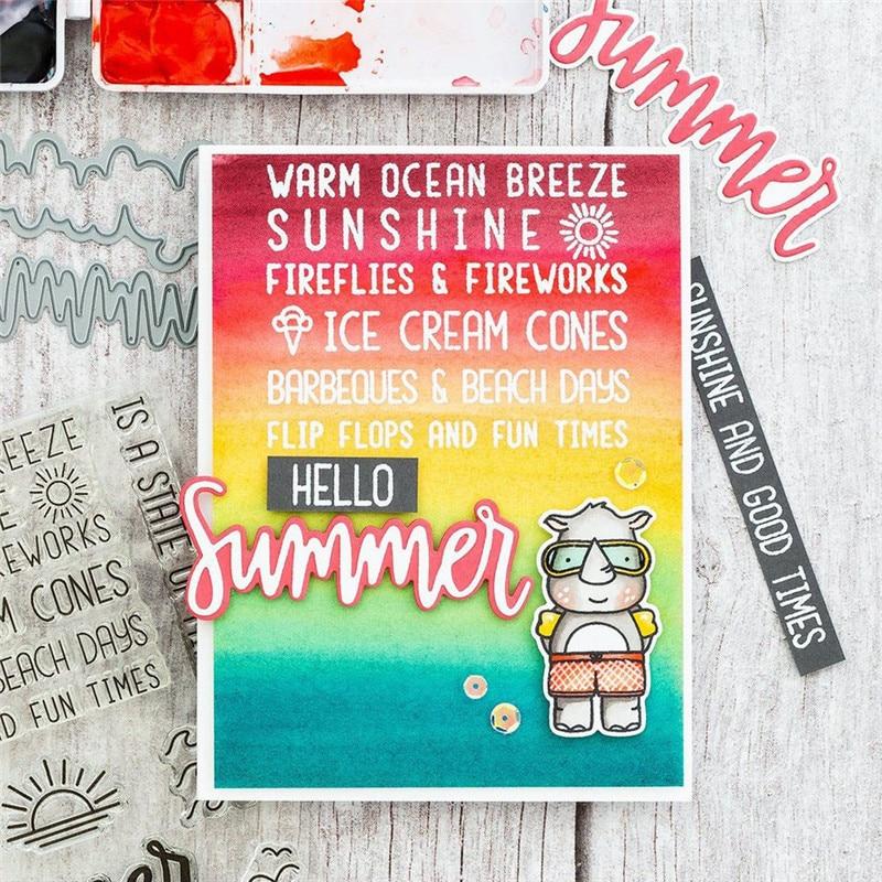 YaMinSanNiO Stamps And Dies Summer Words Metal Cutting Dies New 2019 Dies Scrapbooking For Card Making Paper Craft Die Cut