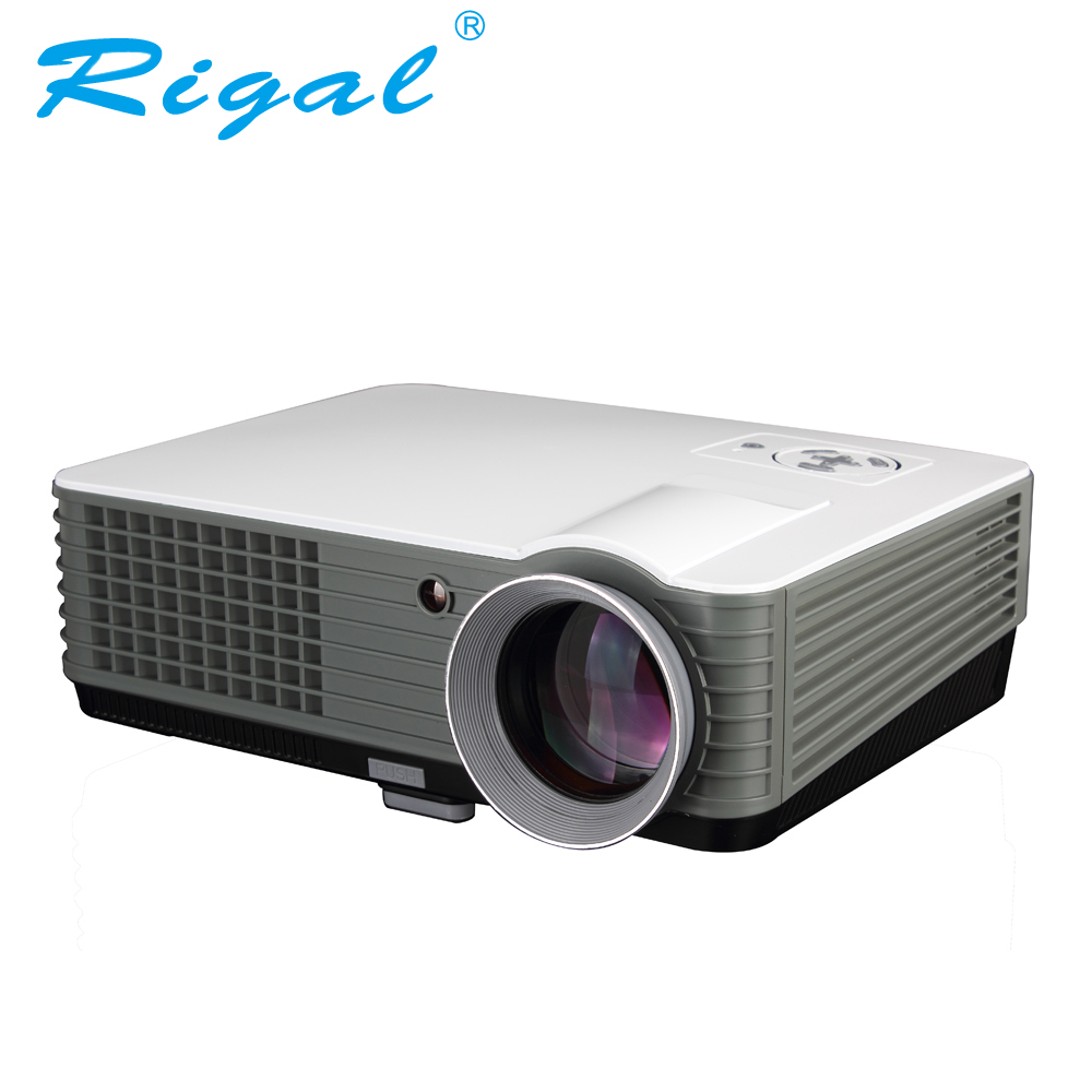 Rigal Projector RD801 LED Projector 2000Lumens Android WIFI 3D Beamer Home Cinema Theatre Proyector TV LCD Video Game HDMI VGA 3500 lumens home projector entertainment cinema 1024 768pixels updated free hdmi full color office projector game proyector