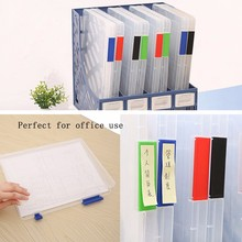 A4 Transparent Storage Box Clear Document Paper Filling Case File Plastic New magnet desk organizer tray for paper W15