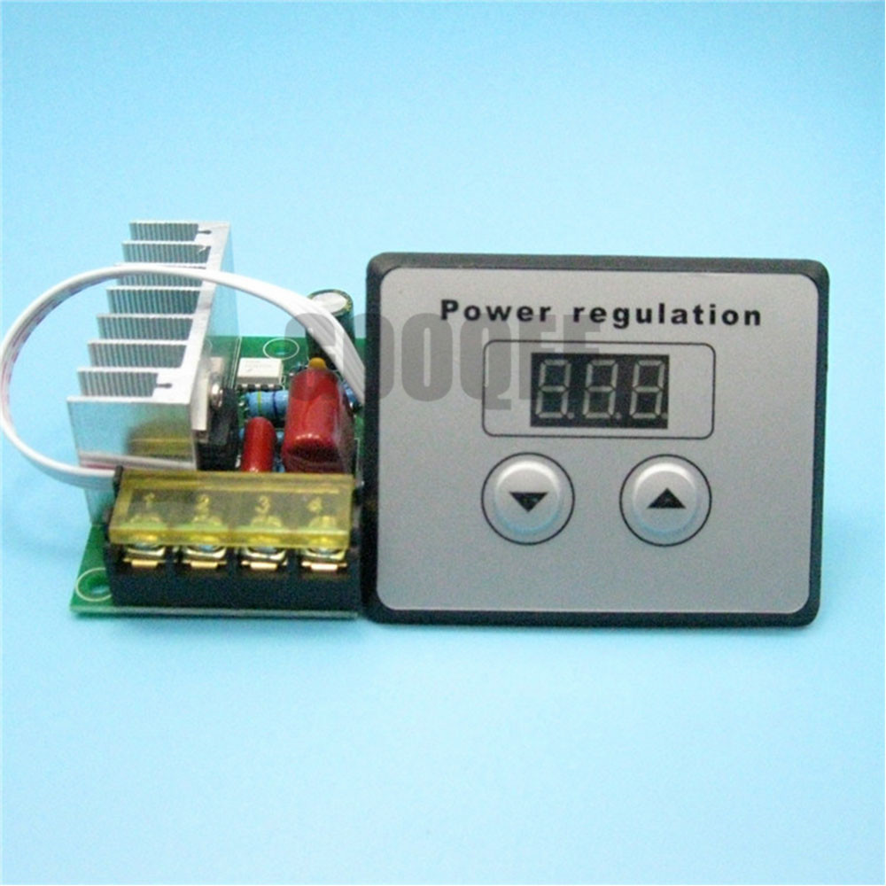 Digital Control SCR Electronic Voltage Regulator 10-220V Speed Control Dimmer Thermostat + Digital Meters AC 220V 10000W 80A new 10000w import scr super power electronic digital regulator dimmer speed thermostat