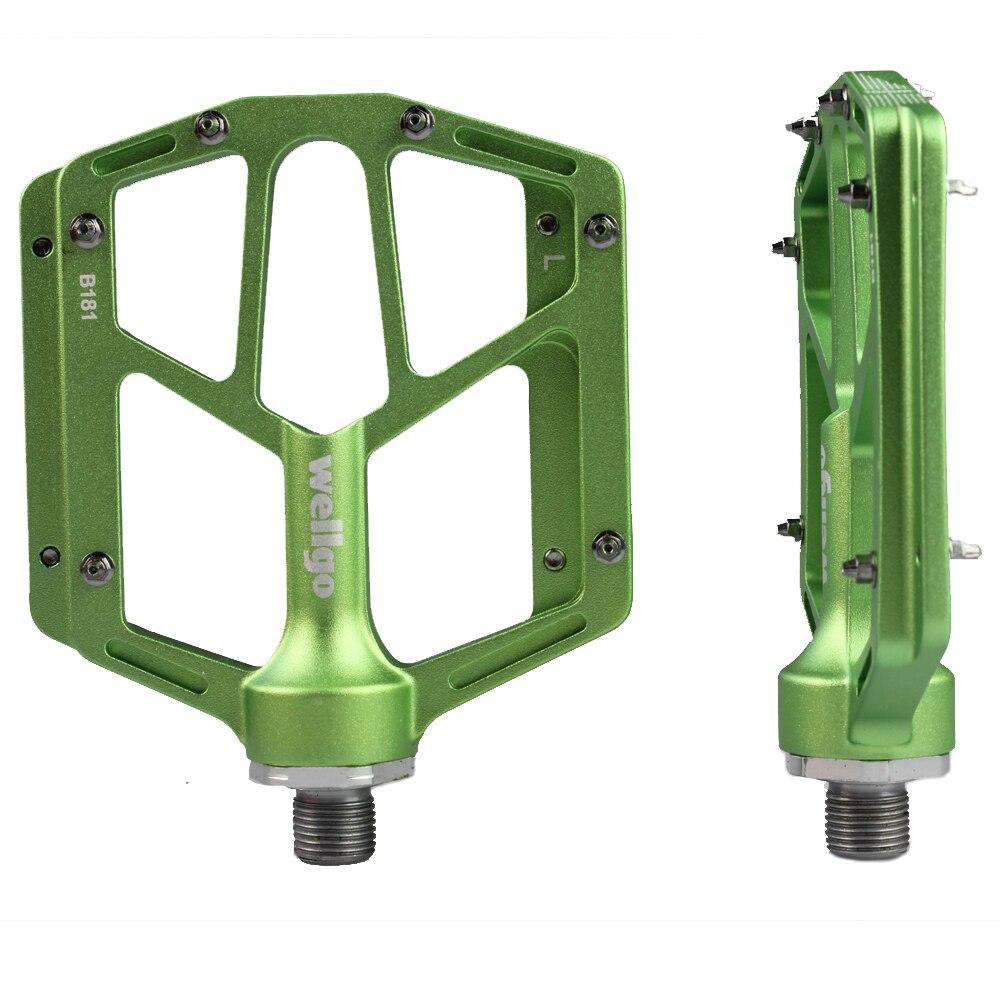 VTT pédale pédale route vélo alliage d'aluminium anti-dérapant pédale chrome molybdène acier axe WELLGO B181