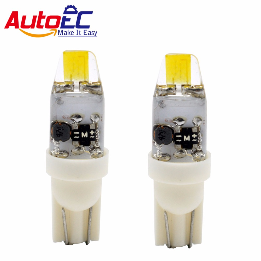 AutoEC 2x t10 cob w5w g4 12v ha condotto la luce in silicone 194 - Luci auto