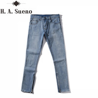 Kanye West Men's Jeans Zipper Jeans Casual Jeans Men Male Denim Justin Bieber Jeans Homme Hip Hop Men Pants Stretch