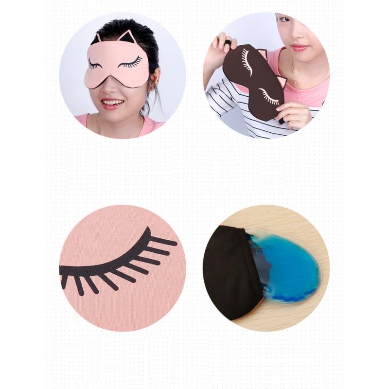 1 PC Sleeping Eye Mask Eyepatch Милый мысық пішіні - Денсаулық сақтау - фото 2