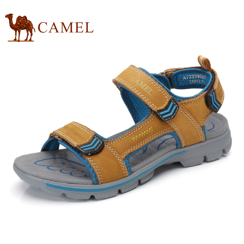 Camel Mens Sandals 2017 Summer New Outdoor Beach Sandals Male Breathable Leather Toe Shoes A722396277