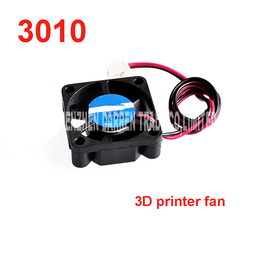 100pcs High Quality 3D printer 3010 fan 30*11 MM <font><b>12</b></font> <font><b>V</b></font> DC <font><b>Cooler</b></font> Pin Cool Cooling Fan for 3D Pinter Part Special injection image