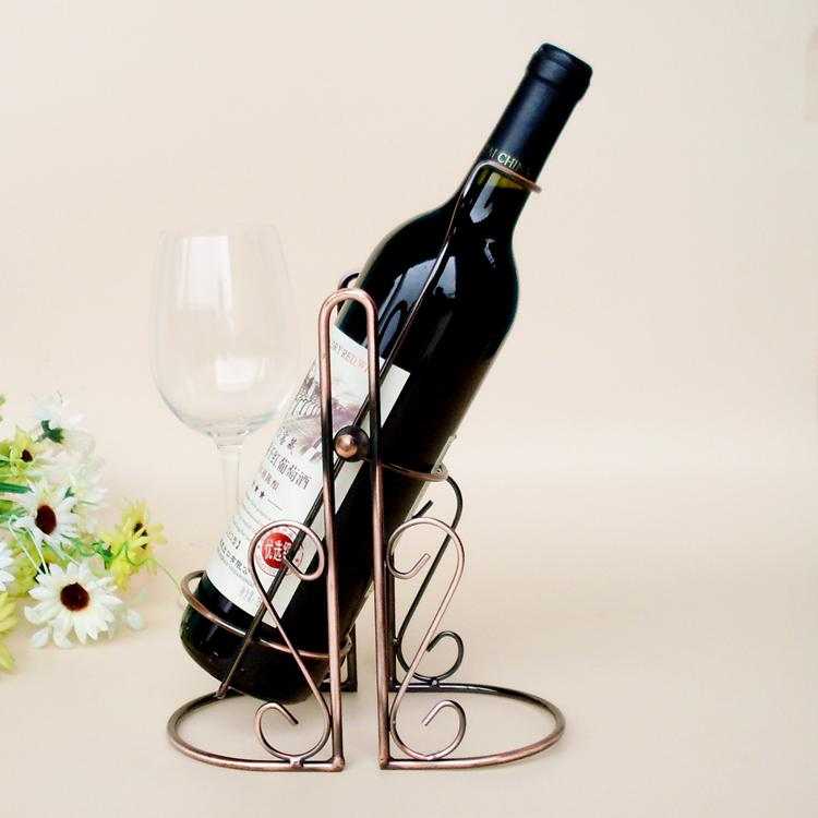 Online Tyj 005 Red Wine Bottle Rack Holder Wire Metal Wall Shelf Table Stand Home Decor Aliexpress Mobile